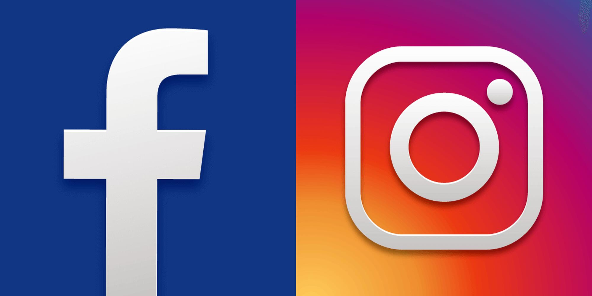 Facebook and Instagram logos